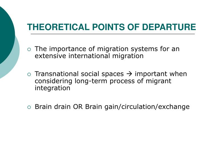 THEORETICAL POINTS OF DEPARTURE