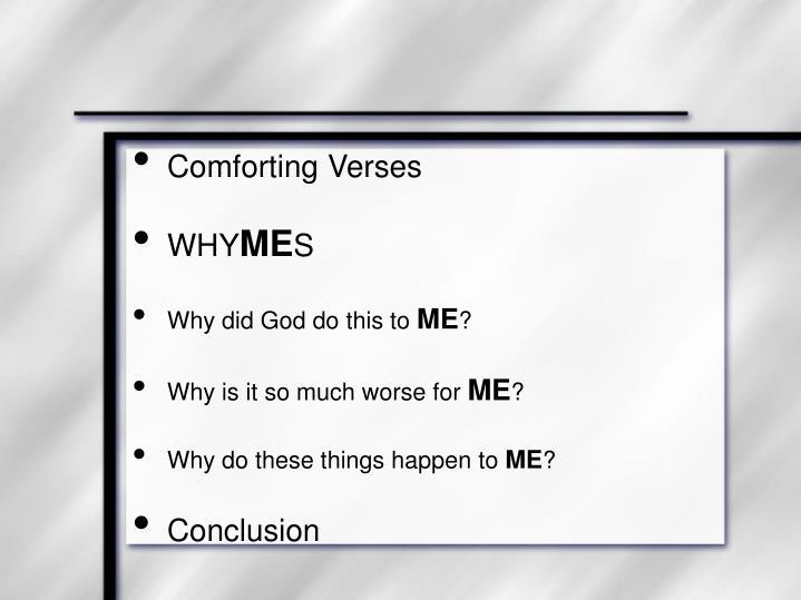Comforting Verses