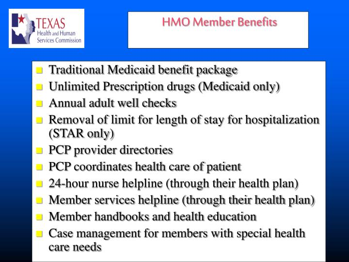 Traditional Medicaid benefit package