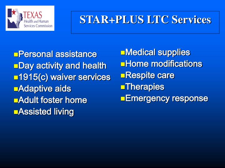 STAR+PLUS LTC Services