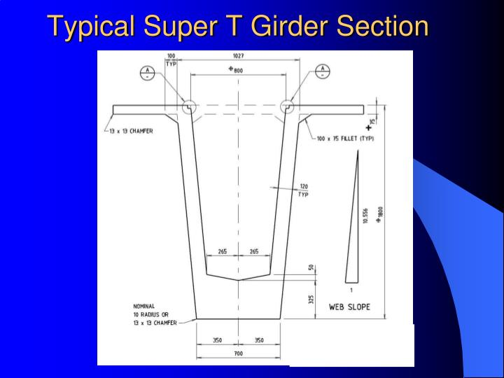 Typical Super T Girder Section