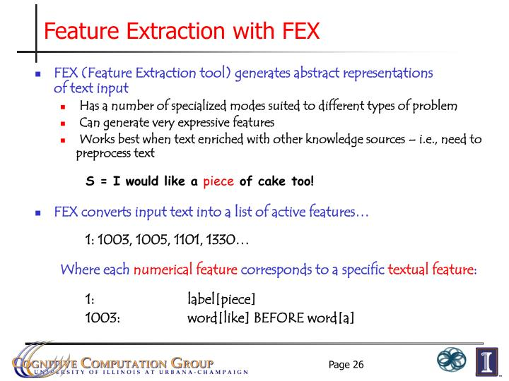 Feature Extraction with FEX