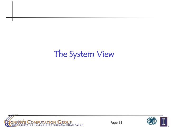 The System View