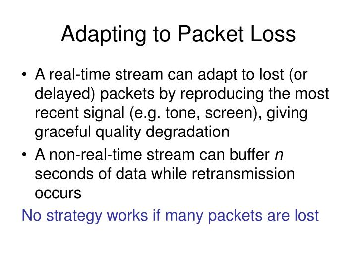 Adapting to Packet Loss