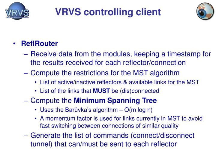 VRVS controlling client