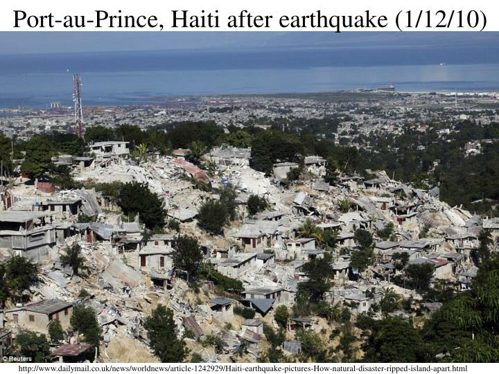 Port-au-Prince, Haiti after earthquake (1/12/10)