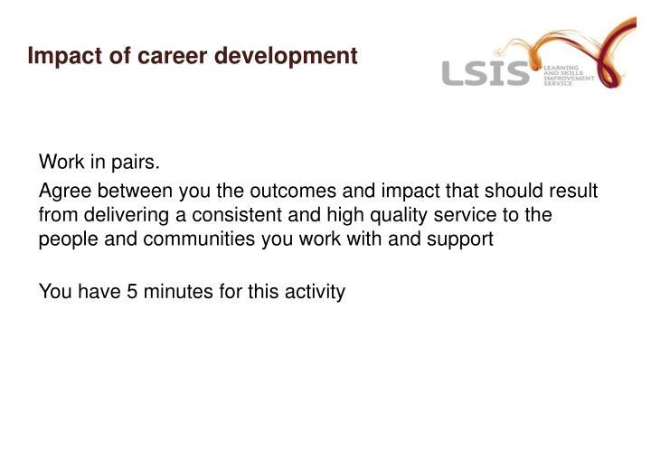 Impact of career development
