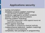 applications security