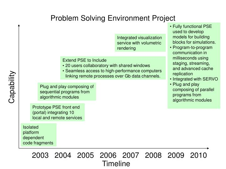 Problem Solving Environment Project