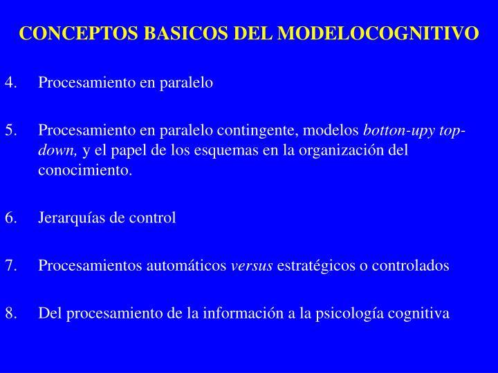 CONCEPTOS BASICOS DEL MODELOCOGNITIVO