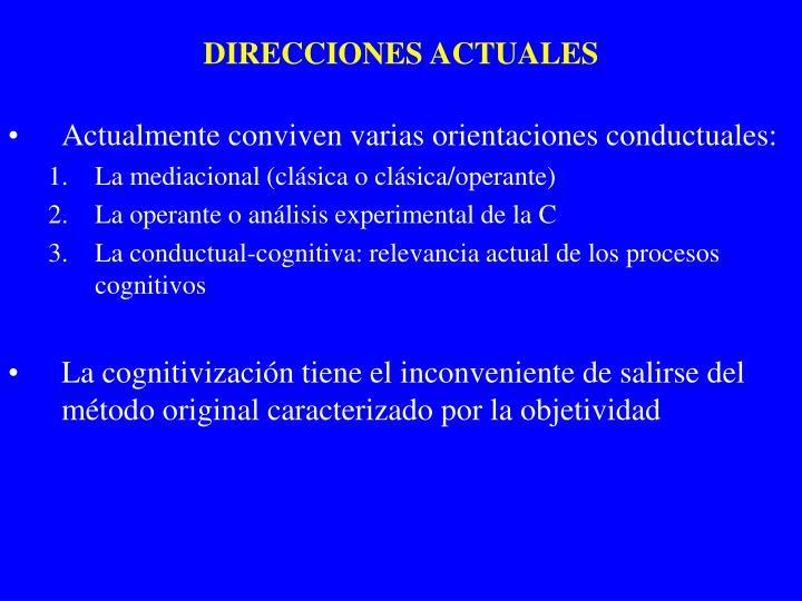 DIRECCIONES ACTUALES
