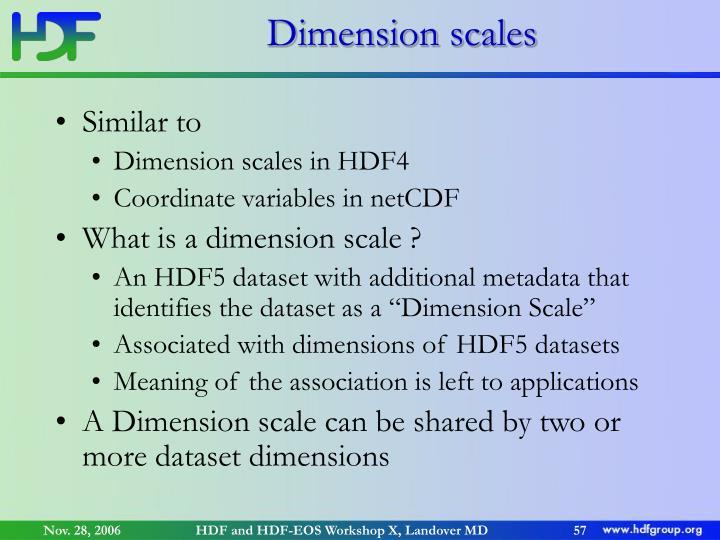 Dimension scales