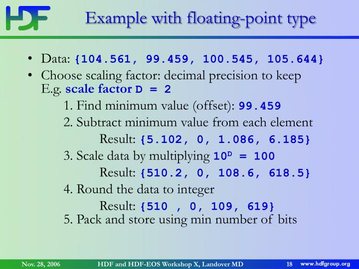 Example with floating-point type