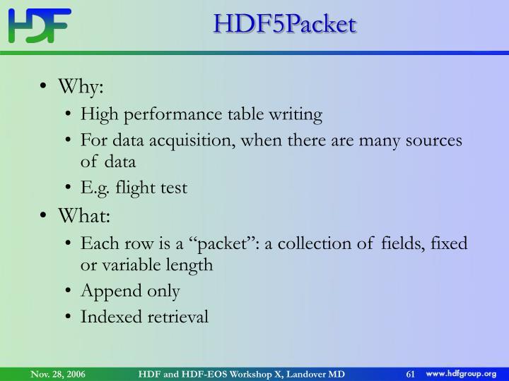 HDF5Packet