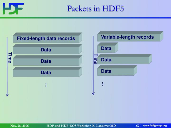 Packets in HDF5