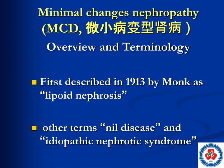 Minimal changes nephropathy