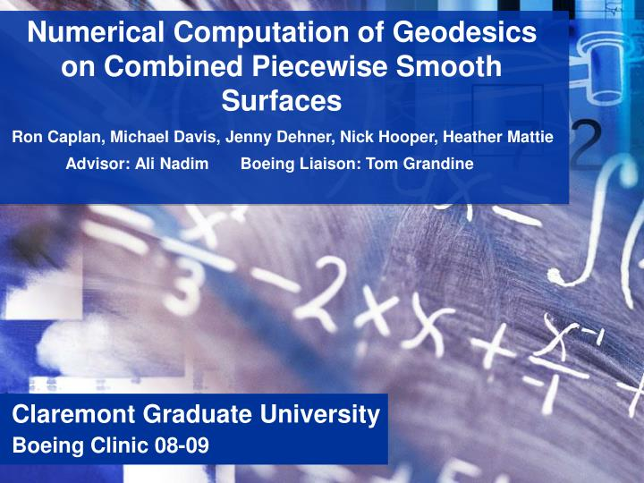 Numerical Computation of Geodesics on Combined Piecewise Smooth Surfaces