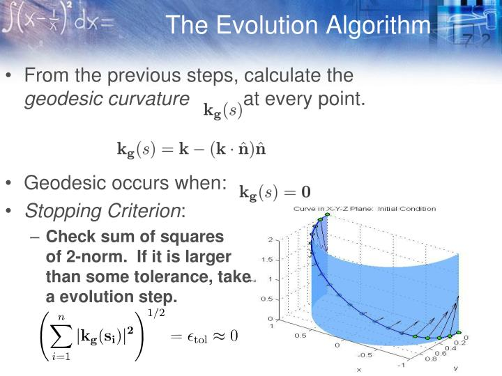 The Evolution Algorithm