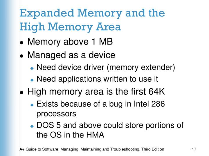 Expanded Memory and the