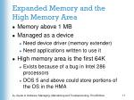 expanded memory and the high memory area