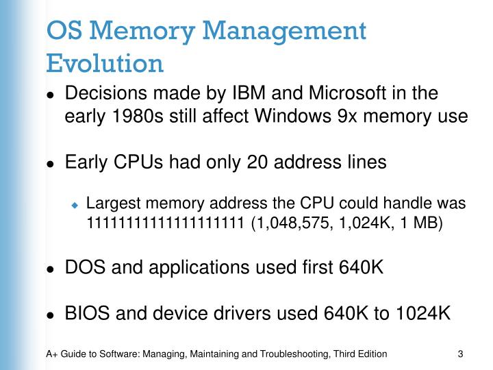 Os memory management evolution
