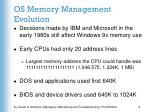 os memory management evolution