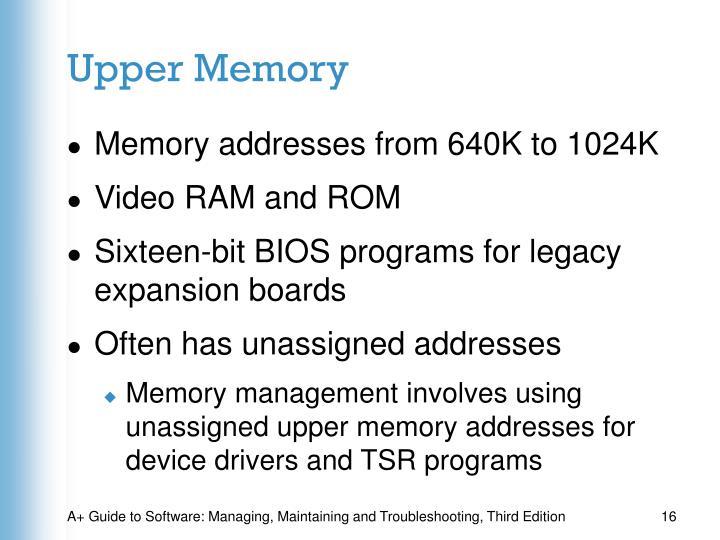 Upper Memory