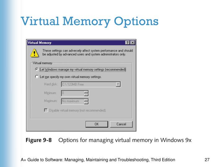 Virtual Memory Options
