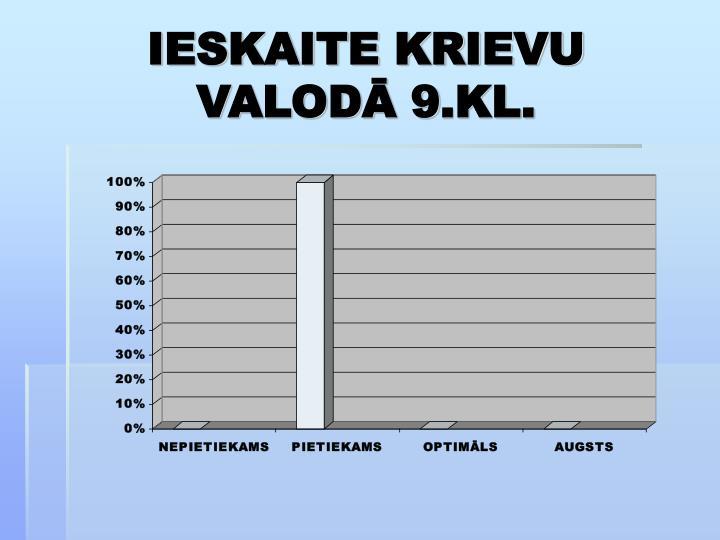 IESKAITE KRIEVU VALODĀ 9.KL.