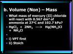 b volume non mass