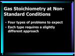 gas stoichiometry at non standard conditions