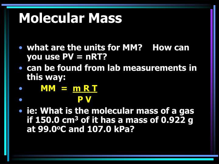 Molecular Mass