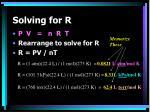 solving for r