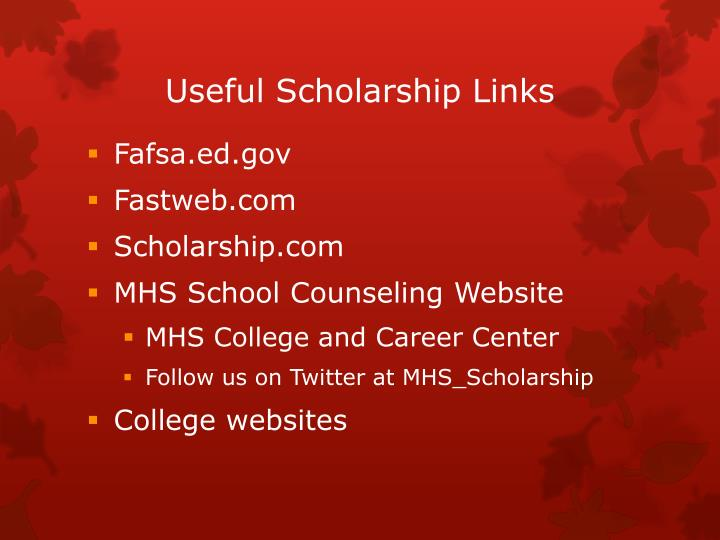 Useful Scholarship Links