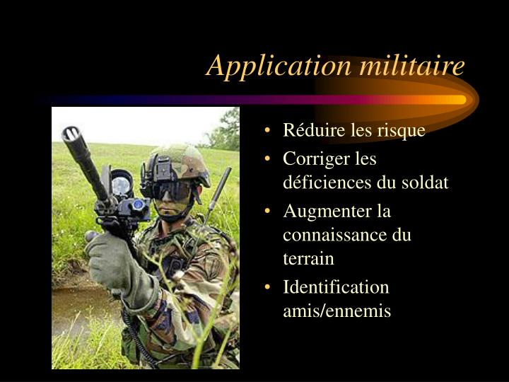 Application militaire
