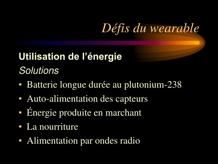 Défis du wearable