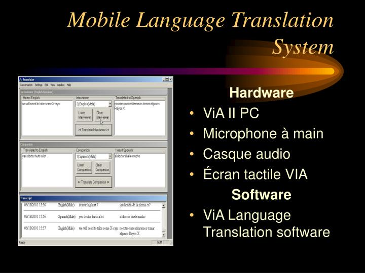 Mobile Language Translation System
