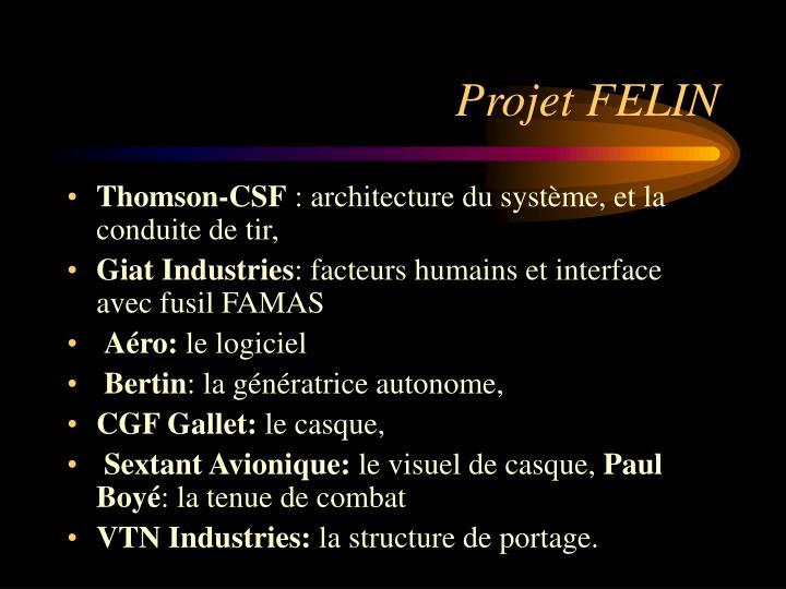 Projet FELIN