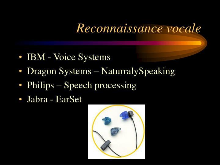 Reconnaissance vocale