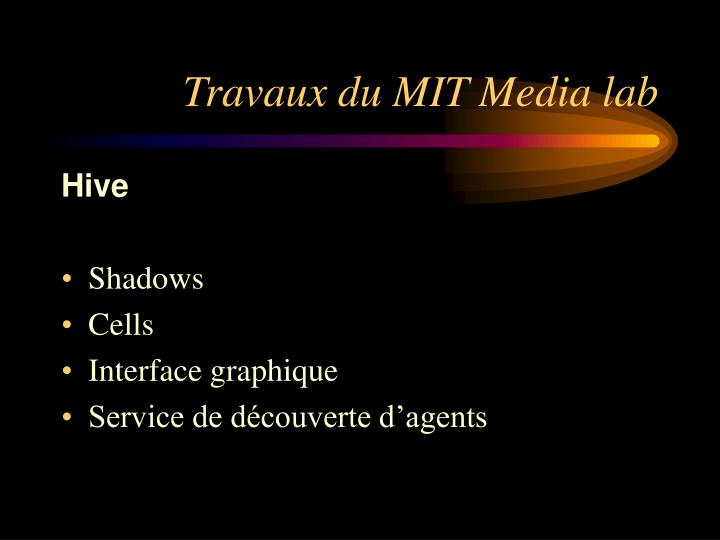 Travaux du MIT Media lab