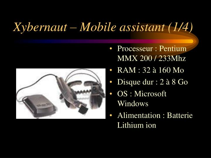 Xybernaut – Mobile assistant (1/4)