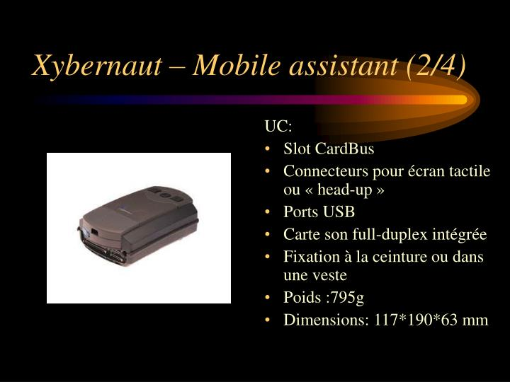 Xybernaut – Mobile assistant (2/4)