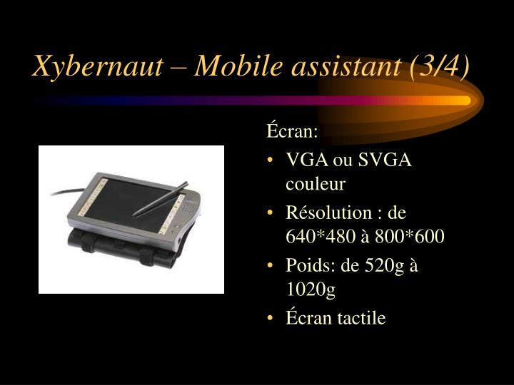 Xybernaut – Mobile assistant (3/4)