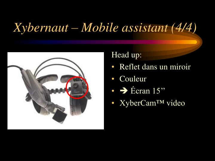 Xybernaut – Mobile assistant (4/4)