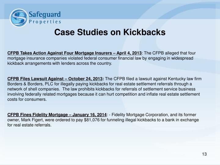 Case Studies on Kickbacks