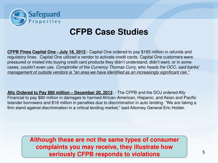 CFPB Fines Capital One - July 18, 2012
