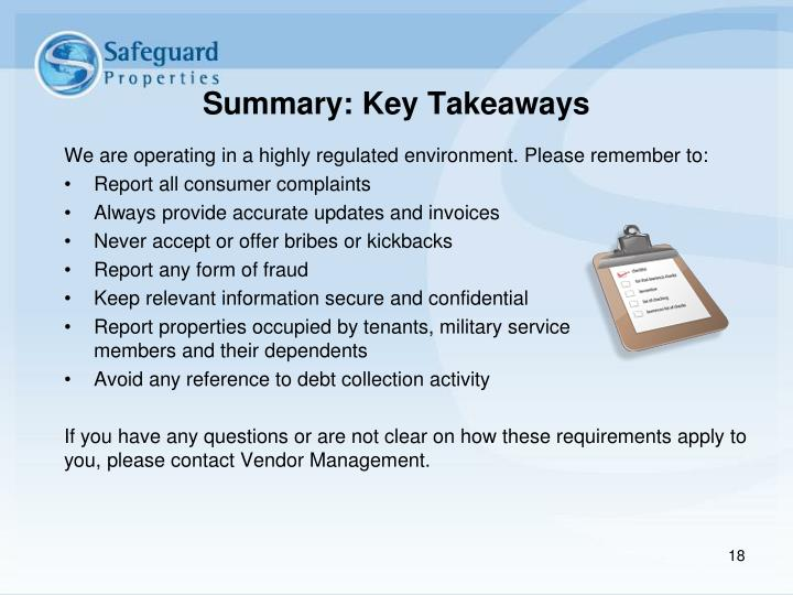 Summary: Key Takeaways