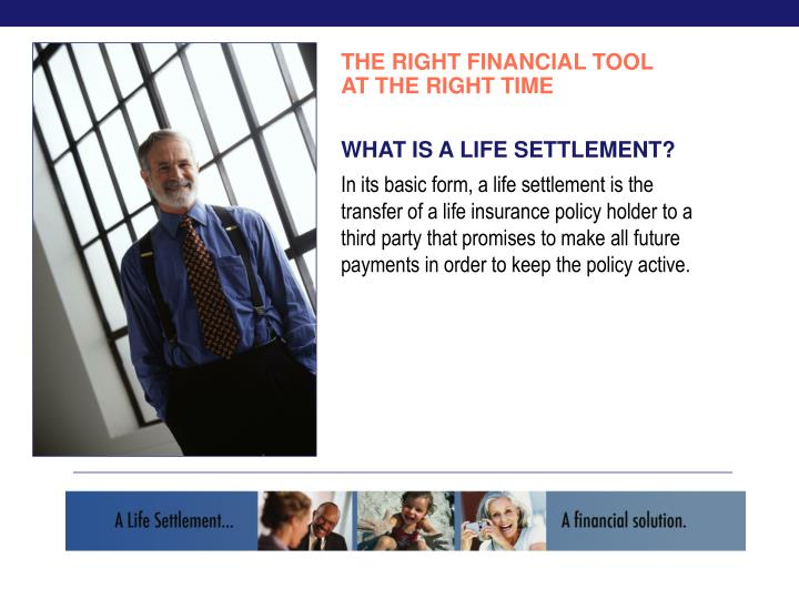 THE RIGHT FINANCIAL TOOL