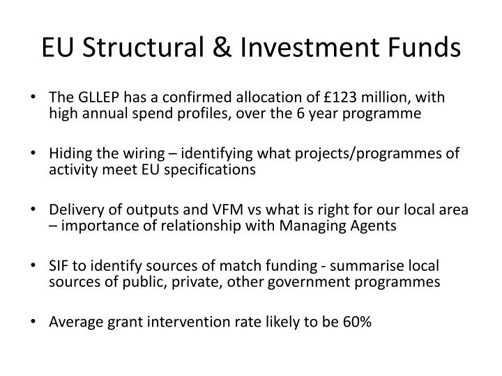 EU Structural & Investment Funds
