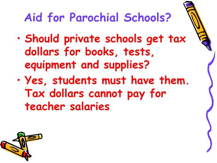 Aid for Parochial Schools?